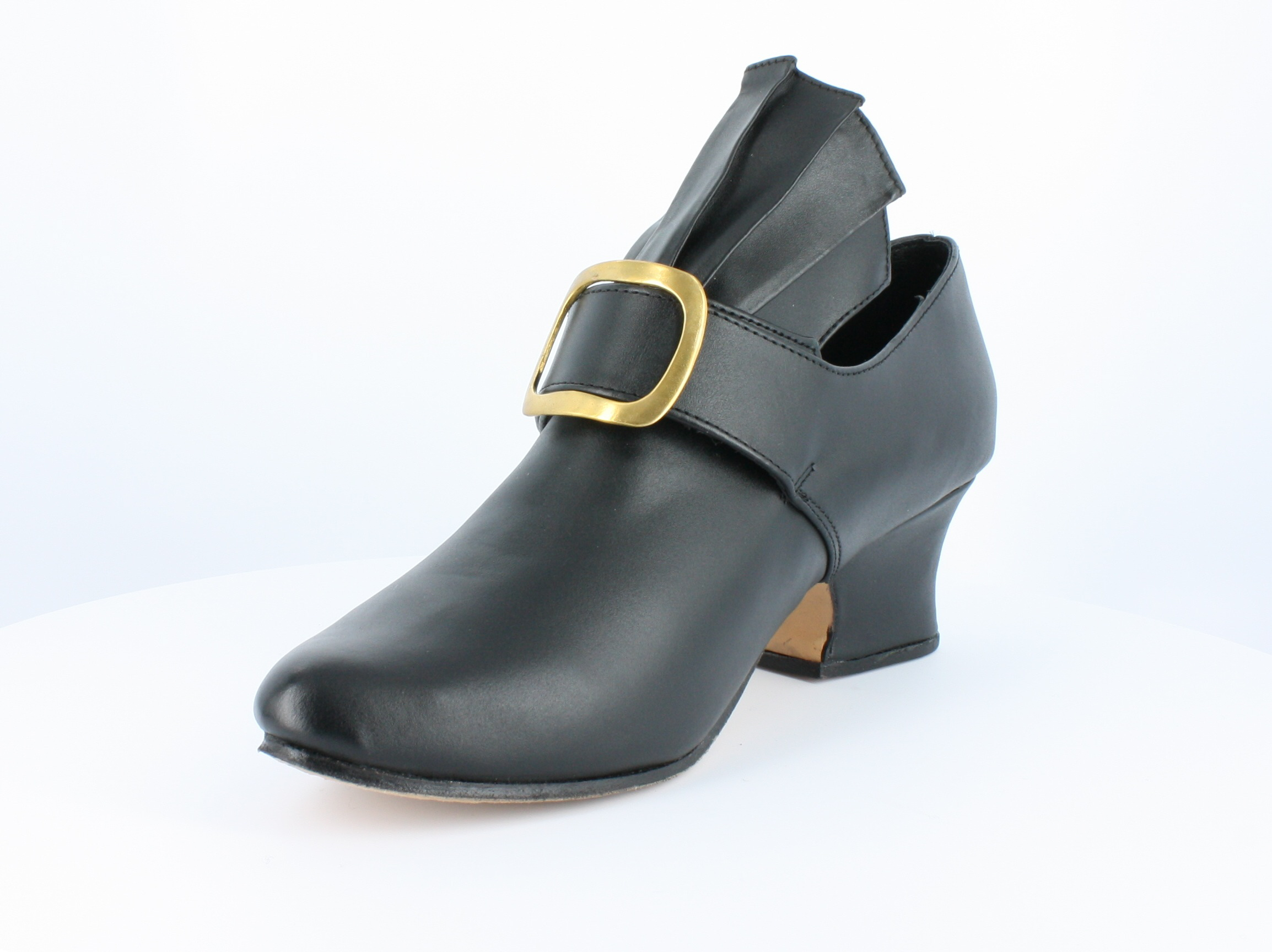 Martha-Colonial black-smooth leather shoe