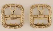 Ribbon Shoe Buckle, brass