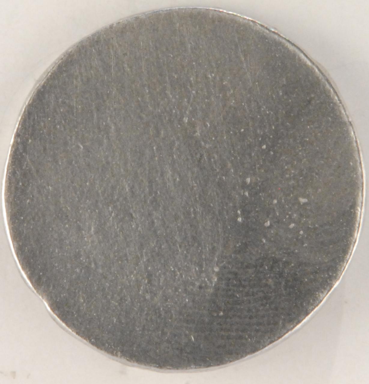 129 L pewter button