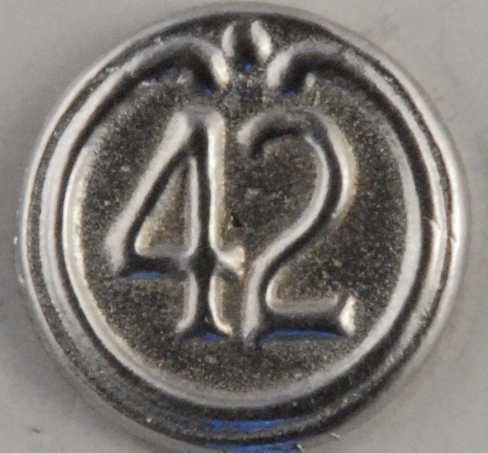115 L Military Pewter Button