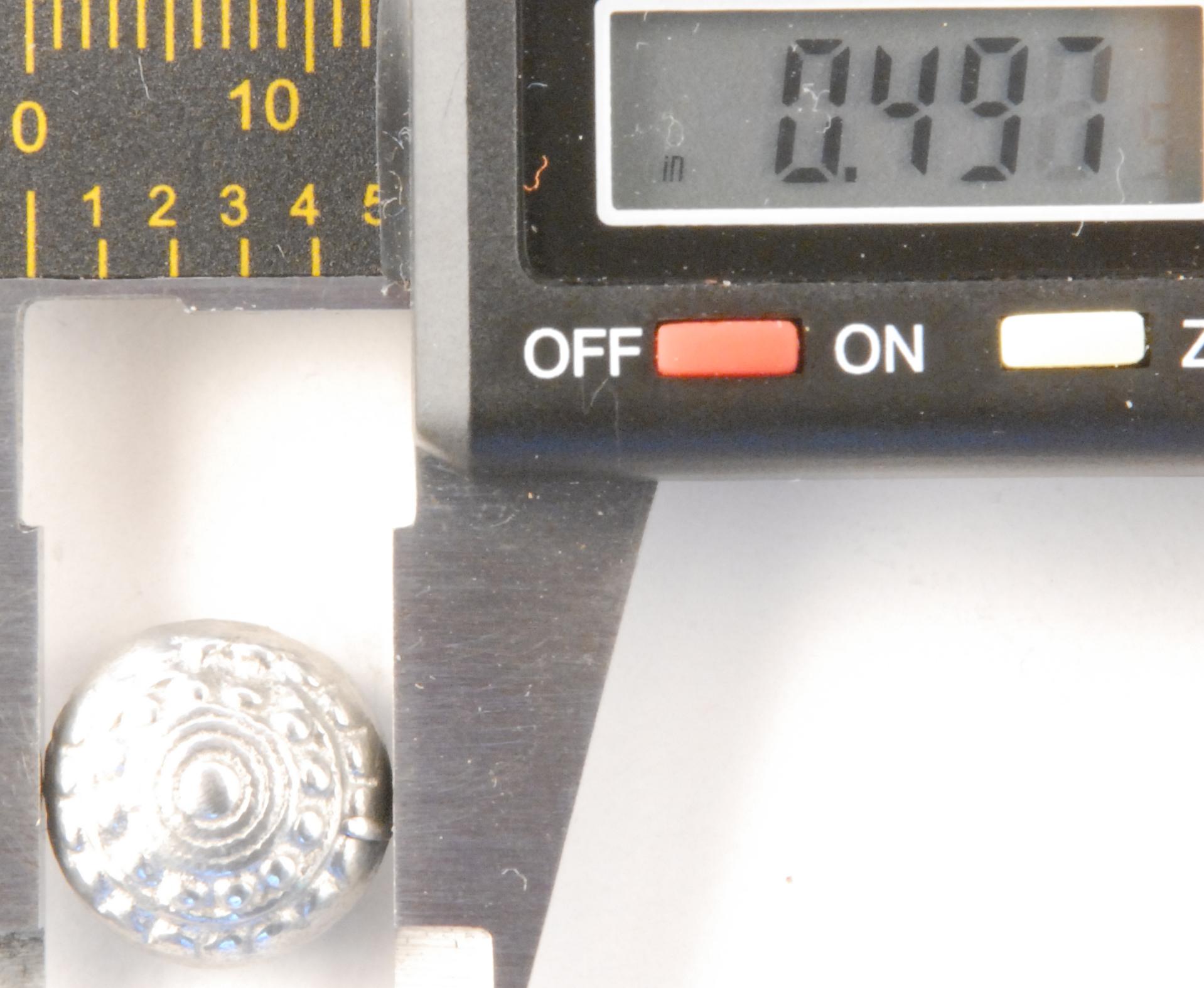 119 S, Acorn design, Pewter Button