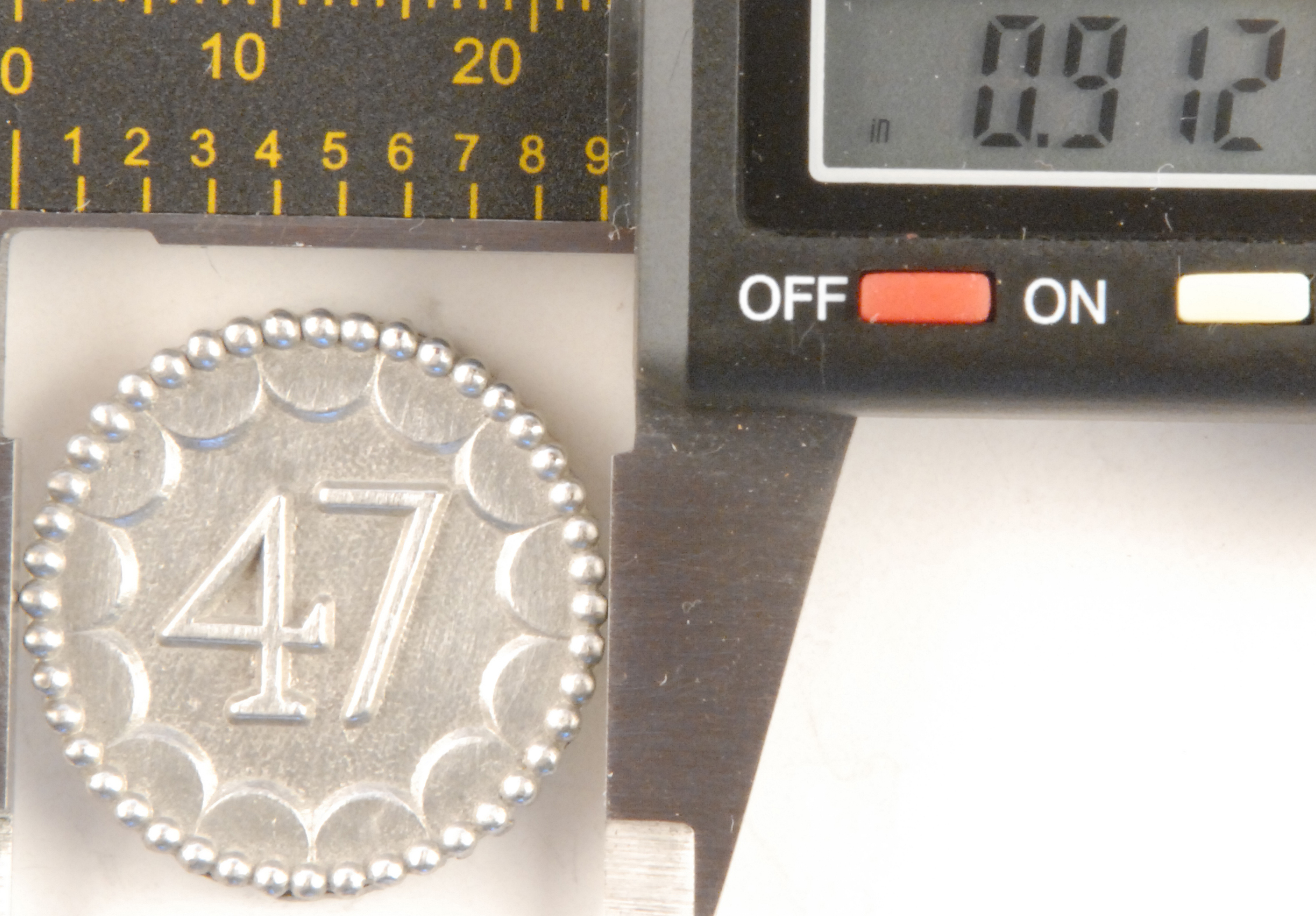 154 L- long-shank, 47th enlisted Pewter Button