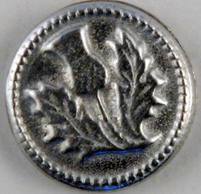 123 M, Thistle Pewter Button