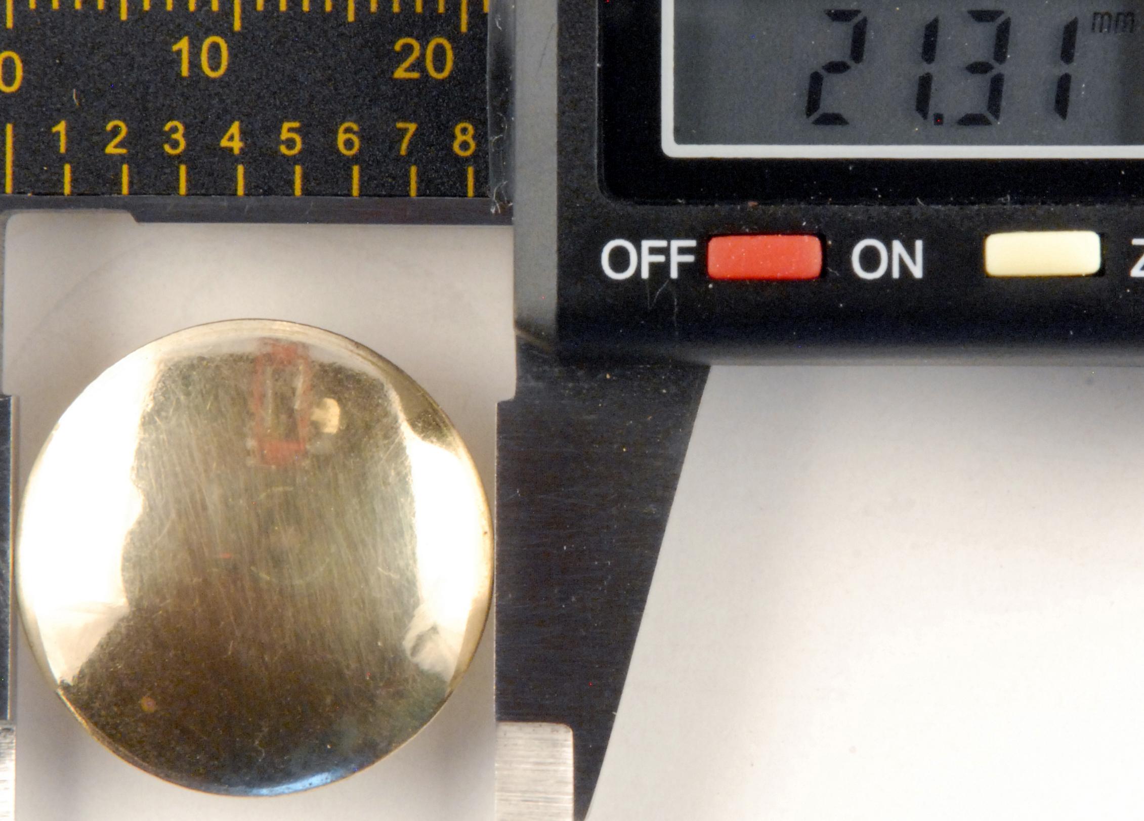 212 Brass High Domed Button