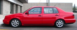 Car is similar to this car but with a black hood. Photo provided by the Santa Clara County Sheriff's Department