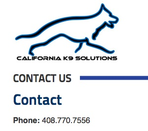 1 Cali K9 contact us logo