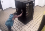 ID #18-513 Alleged Burglar Pushing Vending Machine into Elevator