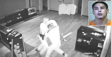 Police Officer Fights for His Life with Alleged Burglar Caught on Camera