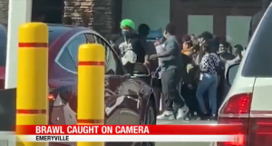 An alleged brawl in Emeryville caught on camera