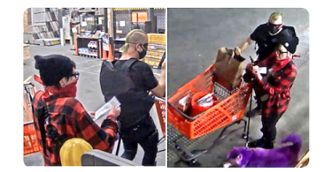 ID #20-315 Alleged suspects with purple dog
