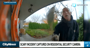 Scary Incident Man with Machete Caught on Camera in Vancouver