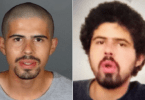 ID #20-514 David Cordoba is seen in photos released Dec. 23, 2020, by the Los Angeles Police Department. The photo at left is from July 2, 2017, while the photo at right is more recent.