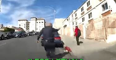 LAPD Release Video of Officer-Involved Shooting of Man with Pickaxe