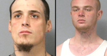 (Left to right) 28-year-old Colton Pullen, 20-year-old Rickey Peebles (Amarillo Police Department)