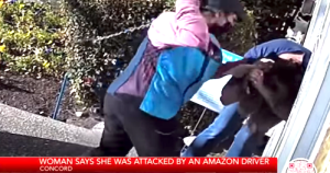 Amazon Delivery Driver Allegedly Attacks Woman Caught on Camera