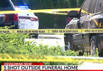 Five Shot Including 4-Year-Old Outside a Funeral Home
