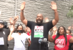 BLM respond to NYPD shooting of armed man with chants of Hands up don't shoot.