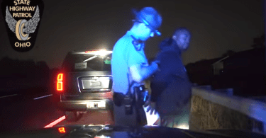 Ohio State trooper with alleged suspect