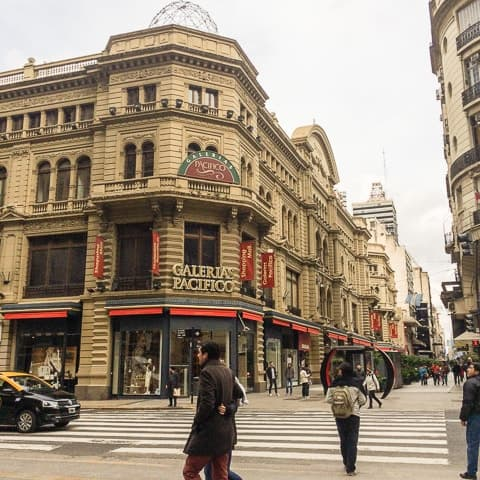 Galerías Pacífico de Buenos Aires - O que fazer em Buenos Aires - Roteiro de 3 dias em Buenos Aires