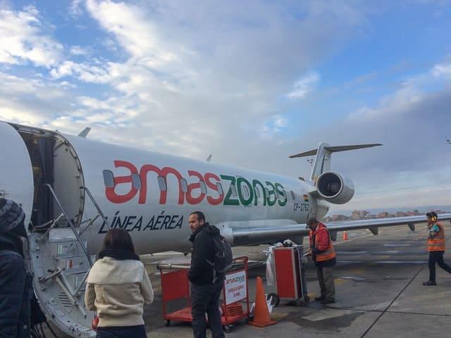 Primeiro dia no Salar de Uyuni - Empresa aérea Amaszonas