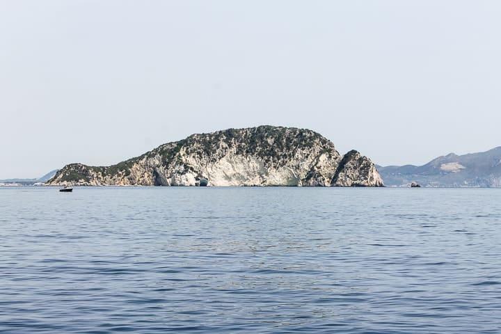 Ilha Marathonisi - guia de praias de Zakynthos