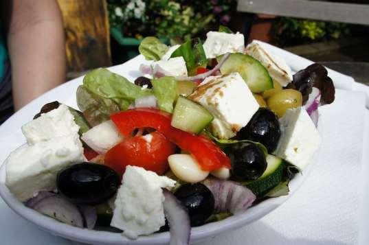 Salada grega, prato típico da Grécia