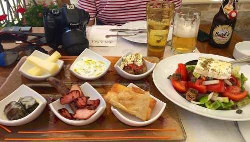 Mezes, comida típica da Grécia