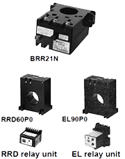 Earth leakage protective relays: BRR,EL,RRD series