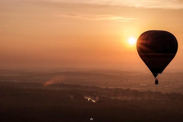 Ballon im Sonnenaufgang - Landscape | Fujifilm | X-T1 | 50-140mm