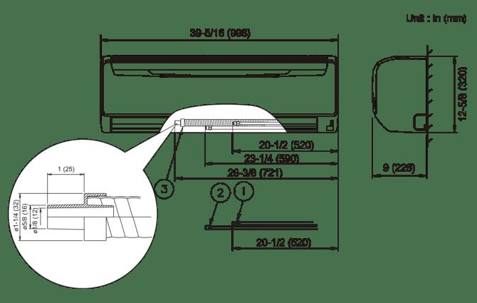 24rlb entry level  wall mounted  halcyon™ singleroom