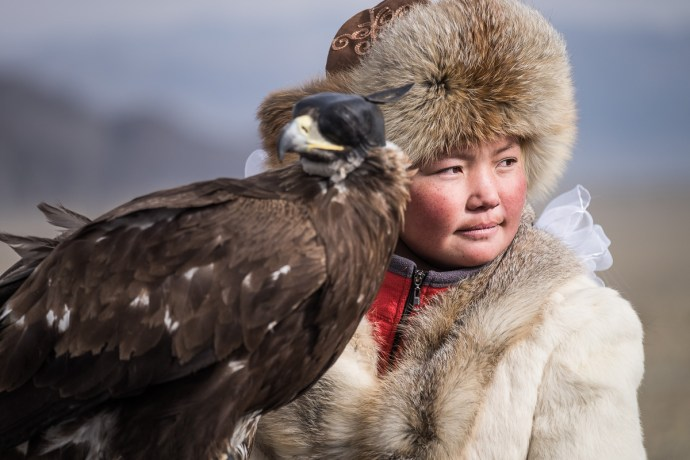 Ashol-Pan is younger ever winner of Mongolian Eagle Hunting Festival taking place in Western Mongolia. She was at the time the only female competitor and became a celebrity over night.