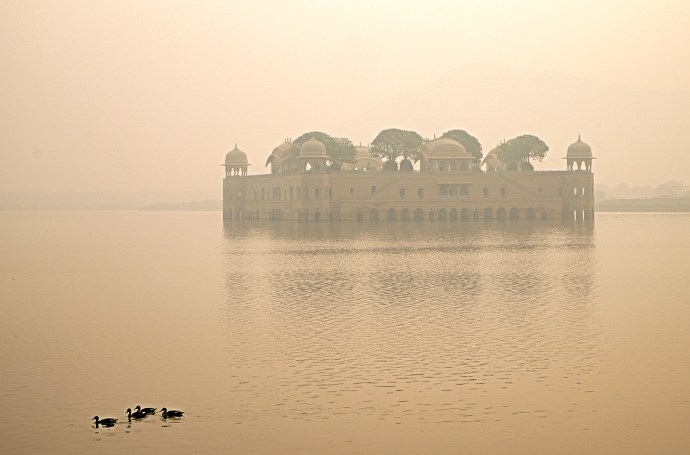 Jaipur palace in the lake