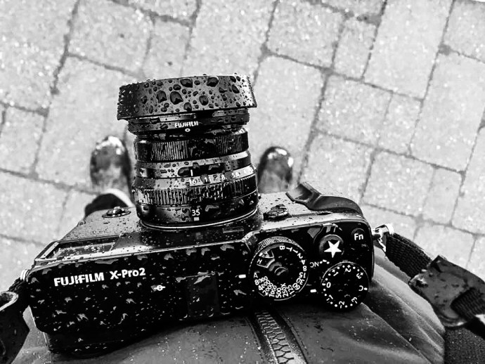 X-Pro2 taking on freezing rain