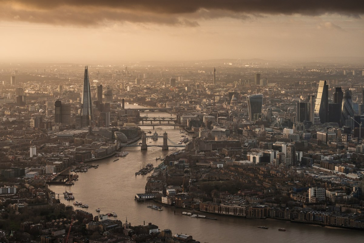 London from helicopter with Fuji X-T2 and X-Pro2