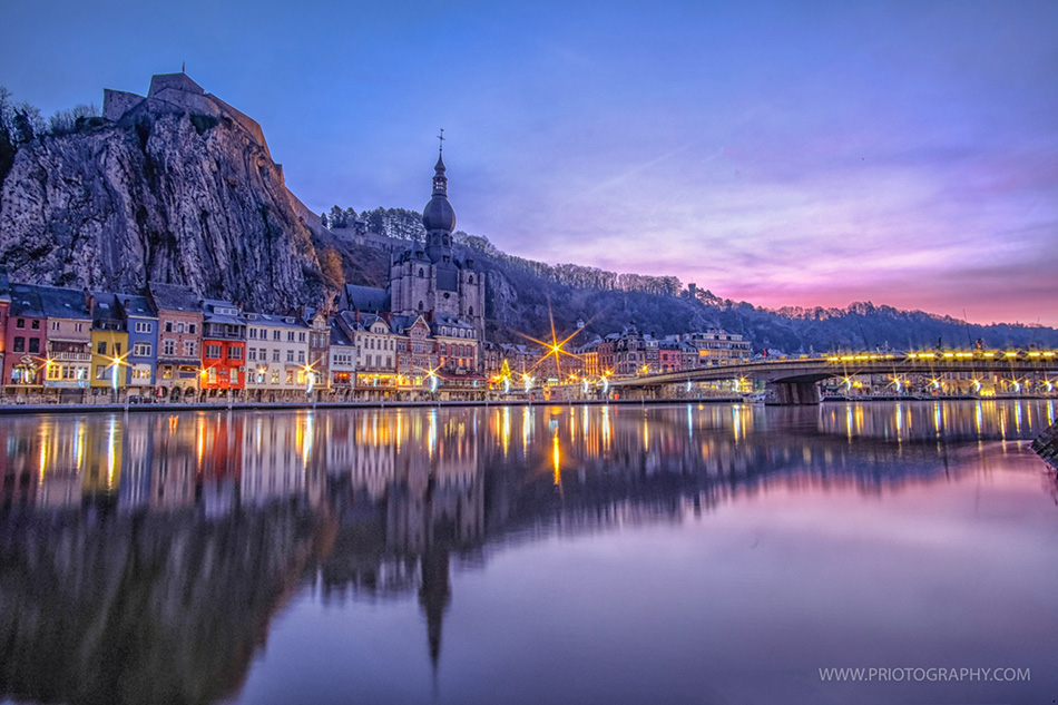 Why shooting during the Blue Hour? - Dinant from Dusk to Dawn