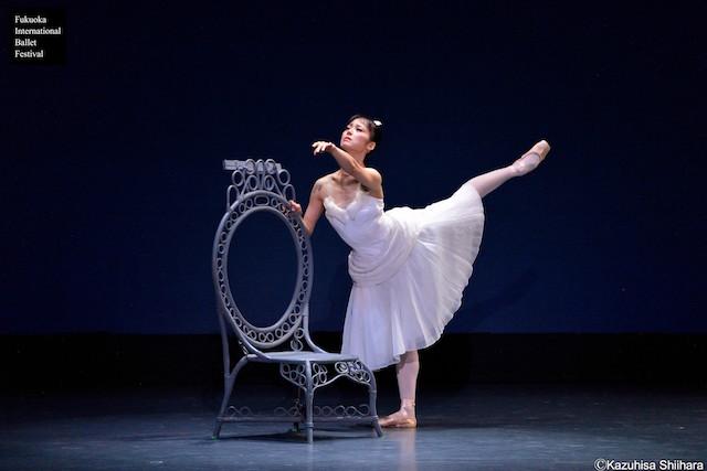 Nao Sakuma, a native of Fukuoka, dances the pas de deux from 'The Two Pigeons' with her partner Yasuo Atsuji.