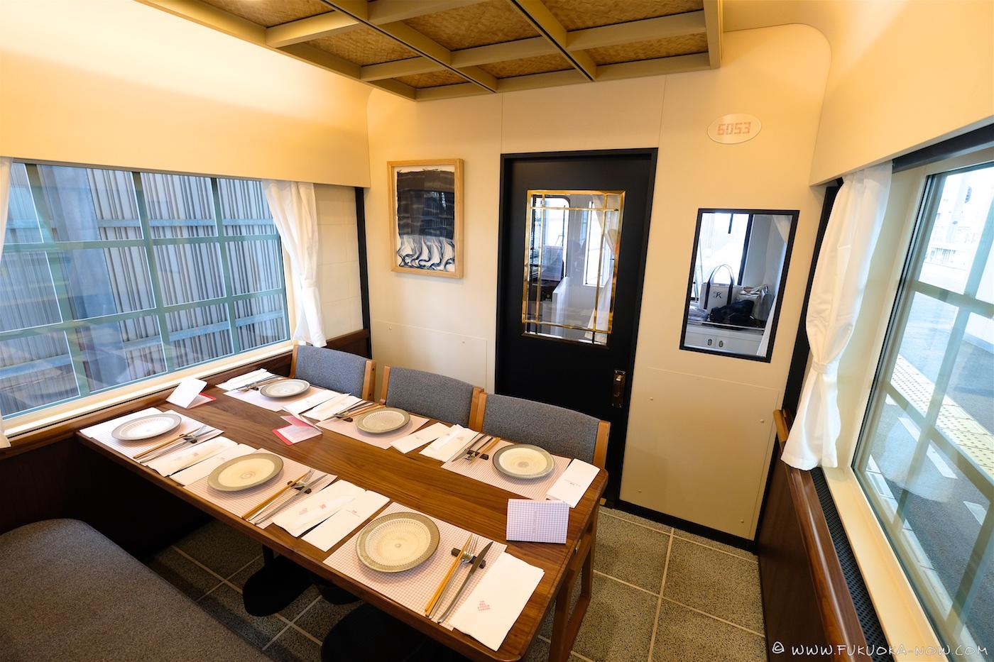 rail kitchen chikugo, nishitetsu, kyushu, sightseeing train, japan