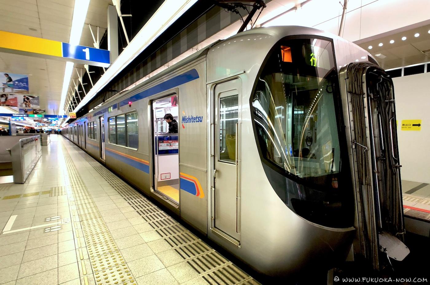 nishitetsu, train, nishitetsu train, fukuoka