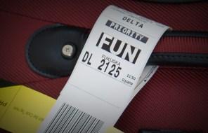 FUN baggage tag Fukuoka