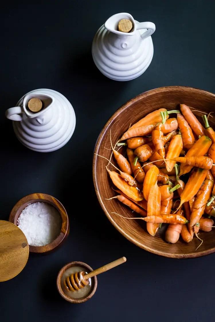 baby carrots pre-roast