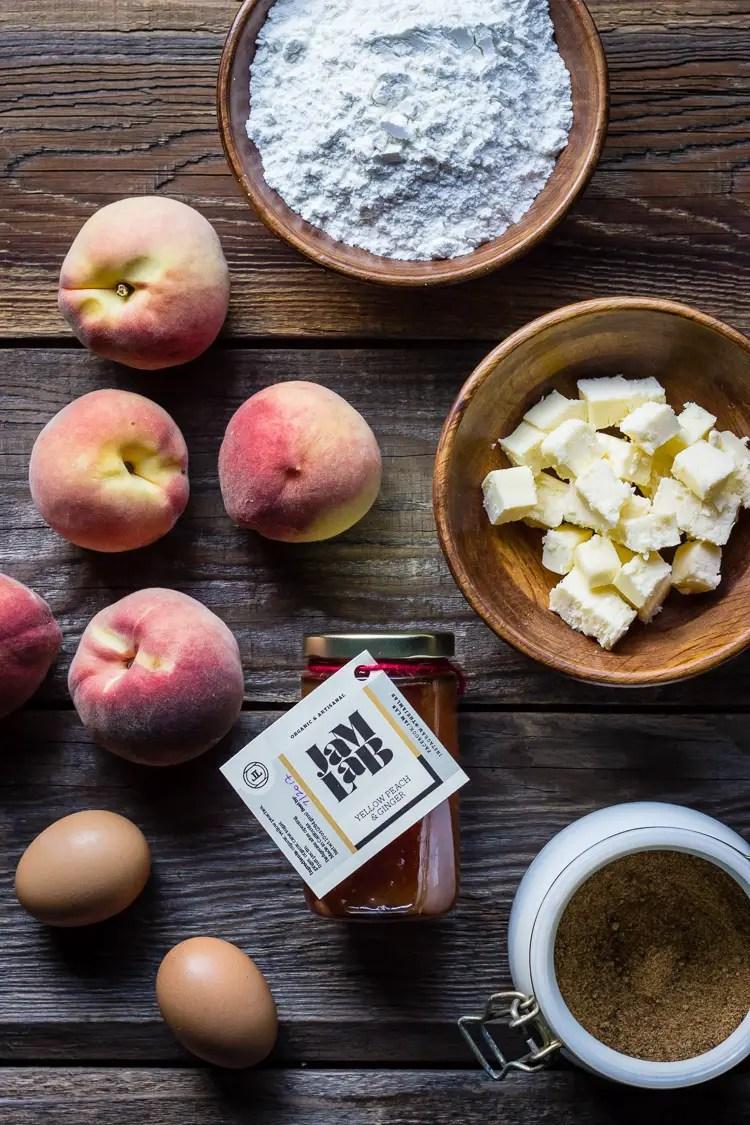 white peach tart ing