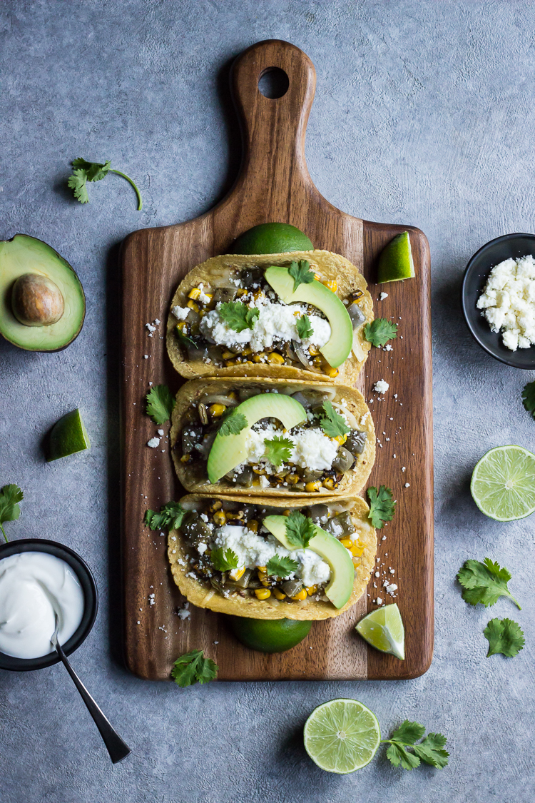 NOPALES and ROASTED CORN TACOS