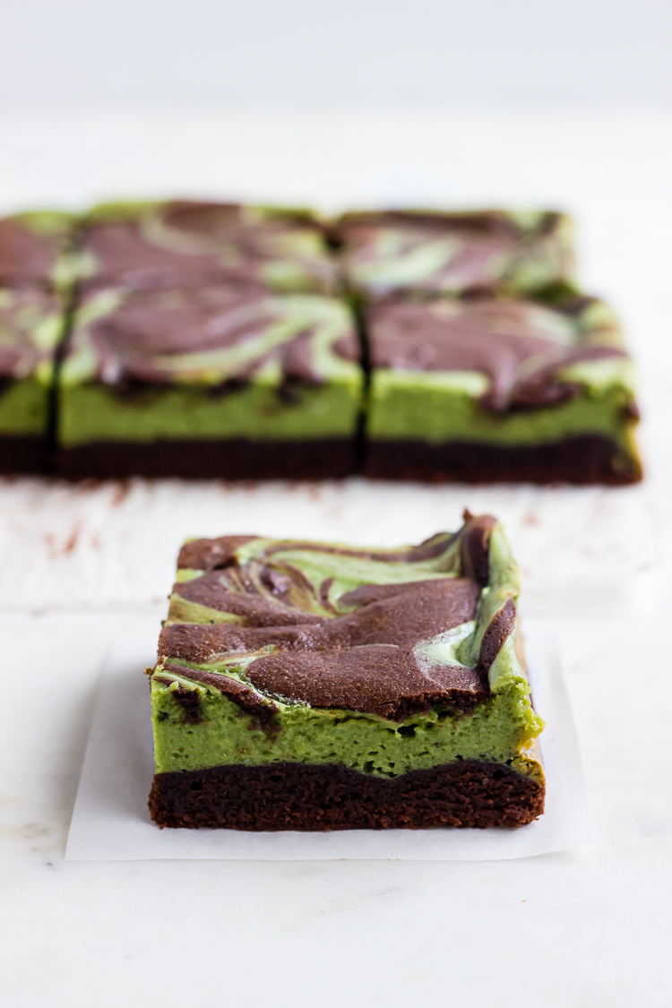 matcha cheesecake brownies