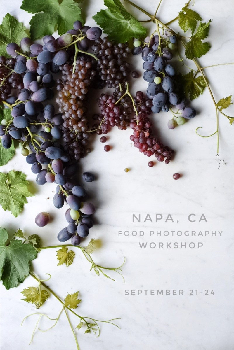 NAPA FOOD PHOTOGRAPHY WORKSHOP