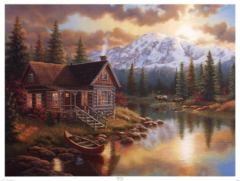 Lake View Fine Art Print By Judith Gibson At