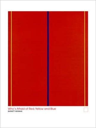Whos Afraid Of Red Yellow And Blue Wall Poster By Barnet