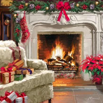 Fireplace 3 Fine Art Print By The Macneil Studio At