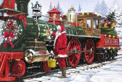 Santas Train 1 Fine Art Print By The Macneil Studio At
