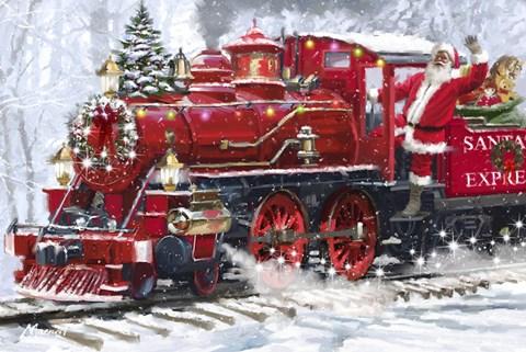 Santas Train 2 Fine Art Print By The Macneil Studio At