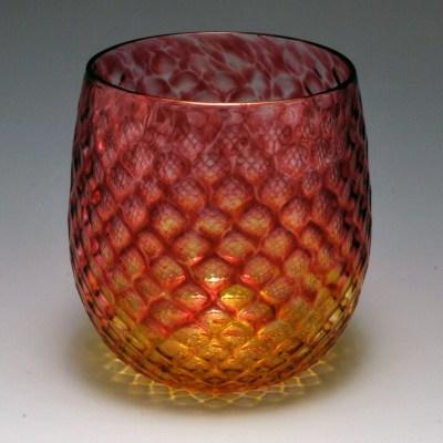 Diamond Facet Wine Bulb – Ruby & Gold